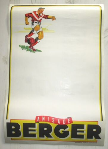 BERGER ANISADE AFFICHE ANCIENNE POUR FOOTBALL