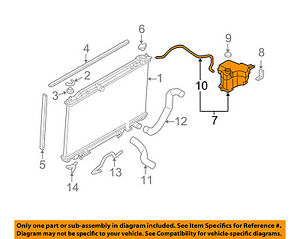 details about nissan oem murano radiator coolant overflow tank recovery bottle 21710ca00b austin healey radiator nissan radiator diagram #8