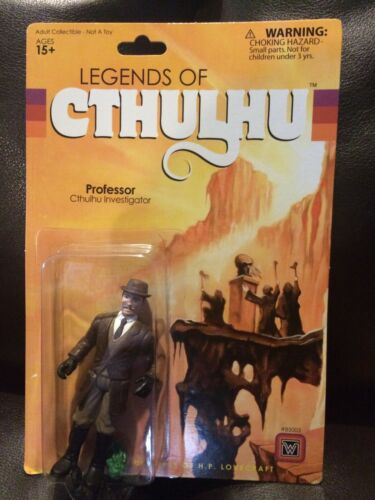 "2015 Warpo Legends of Cthulhu PROFESSOR 4/"" Inch 1:18th Scale Toy Art Figure MOC"