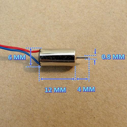 612 6mm*12mm DC 3V 37000RPM High Speed Micro Tiny Coreless HM Motor DIY RC Drone