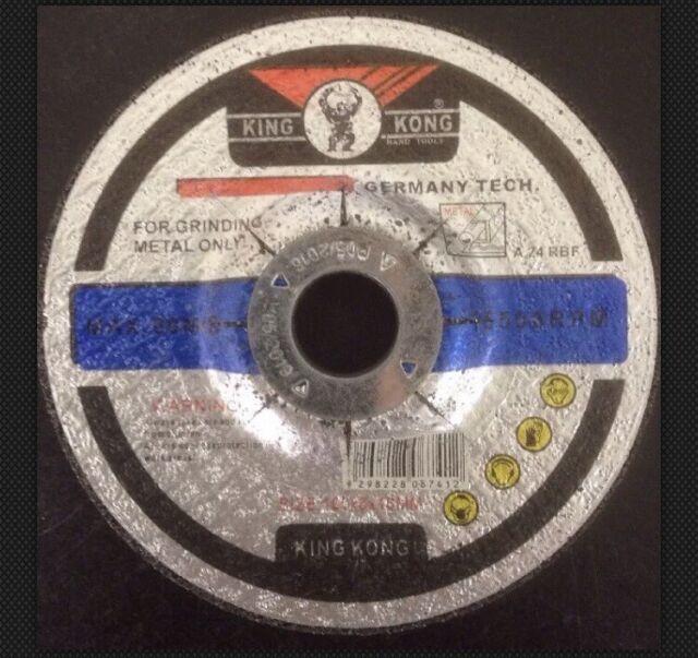 "4"" inch Metal Grinding Disc Wheel 100x6x16mm Abrasive Flat Angle Grinder Wheels"