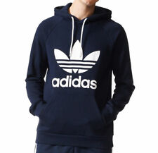 16d9c741823c Adidas Originals Mens Trefoil Logo Fleece Hoodie Top Hooded Sweat shirt S M  L XL