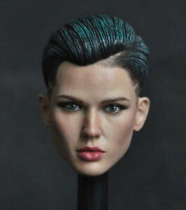1-6th-Green-hair-xXx-Ruby-Rose-Head-sculpt-For-12-034-Female-Figure-Doll-Toys