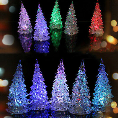 Led Christmas Light.Led Christmas Lights New Year Mini Crystal Color Changing Tree Decor Night Light Ebay