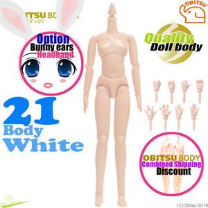 Obitsu 21 Boy body White /& 01W No Flocked Head AZONE Pure Neemo Flection NEW