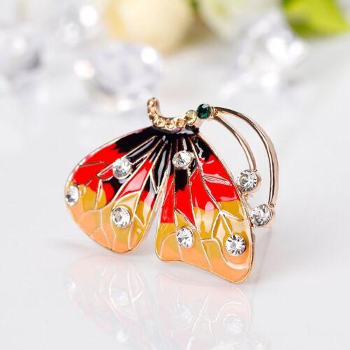 Vintage animal papillon poisson Brooch Pin Broche Femmes Parti Bijoux Chemise Col