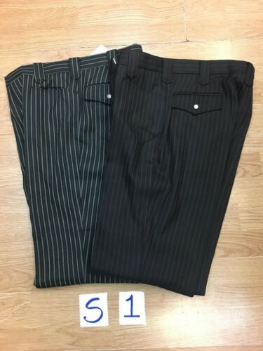 2 pairs of Cowboy Dress Pants Elegante 32/'s and 34/'s by 33 Long New with tags