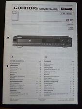 Original Service Manual  Grundig  CD 303