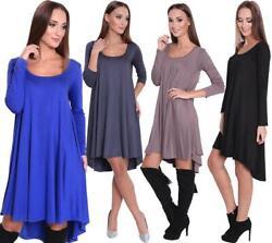 Kleid Asymetrisch Top Minikleid Gr. S M L XL 2XL 3XL, 8185