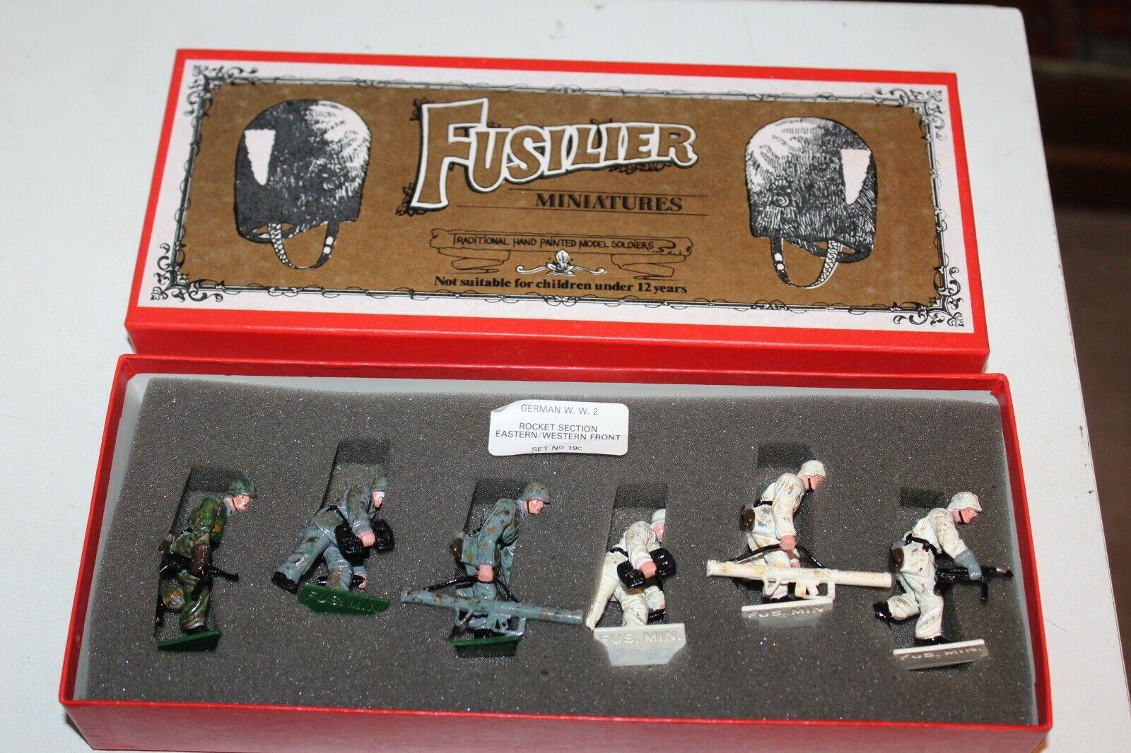 Fuciliere Miniature Tedesco con con 2 Razzo Sezione Soldatini Giocattolo Set