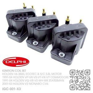 DELPHI-GENUINE-IGNITION-COILS-V6-ECOTEC-3-8L-HOLDEN-VS-VT-VX-VY-COMMODORE