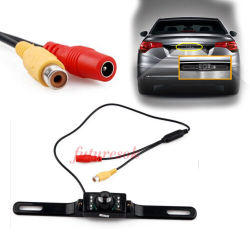 Car HD License Plate Frame Reverse Backup Rear View Camera IR LED Night Vision