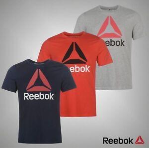 Homme-Authentique-Reebok-Leger-Pile-Delta-T-shirt-manches-courtes-femme-taille-S-XXL