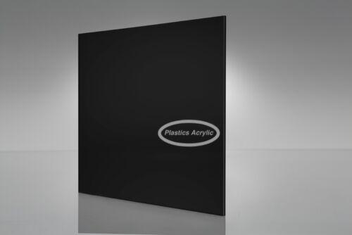 "Black Acrylic Plexiglass sheet 1//8/"" x 12/"" x 12/"""