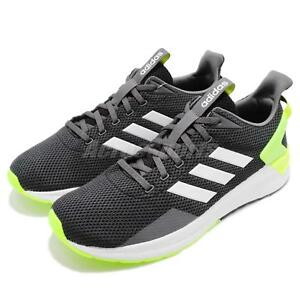 b6b0ba7505d adidas Questar Ride Black White Yellow Men Running Shoes Sneakers ...