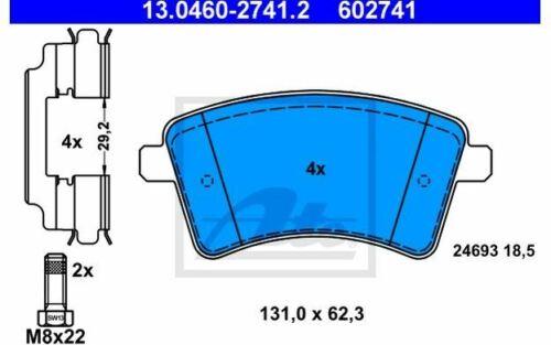 4x ATE Bremsbeläge vorne für RENAULT KANGOO 13.0460-2741.2 Mister Auto