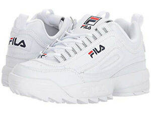 yet not vulgar big discount sale classic style of 2019 Details about FILA DISRUPTOR II PREMIUM WHITE NAVY RED 5FM00002 125 WOMENS  US SIZES