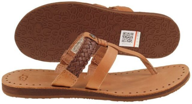 8e31087aba9 UGG Australia Audra Chocolate Braided Flip Flop Sandal Women's sizes  5-11/NEW!!!