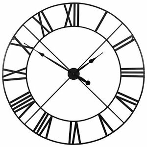 Extra-Large-110cm-Black-Metal-Wall-Clock-with-Roman-Numerals-Unique