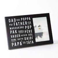 Dad Poppa Baba Father Pere Pop Various Language Black Papryus Frame