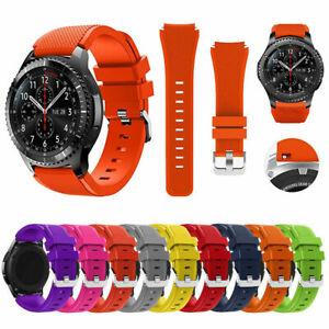 For Samsung Galaxy Watch3 45mm 46mm Gear S3 Silicone Sport Band Watch Strap 22mm