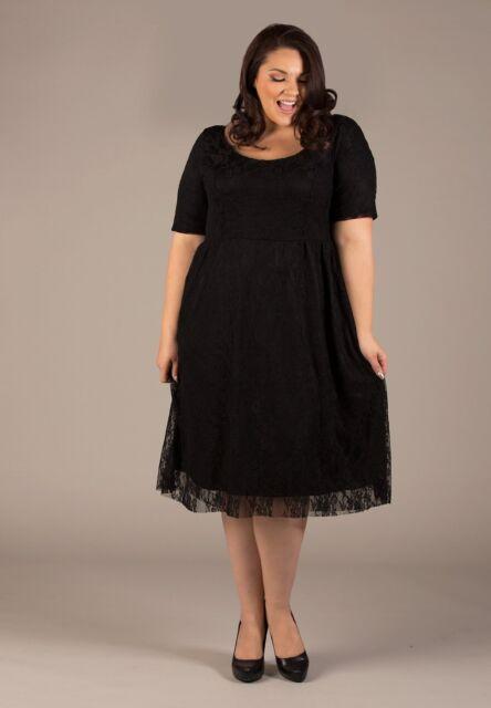 Sexy SWAK Designs Kara Lace Party Dress, Glam Plus, Black, Burgundy or Jade
