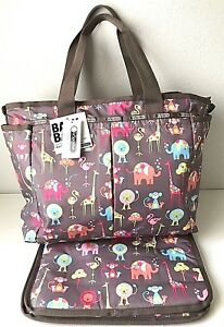 Image Is Loading Lesportsac Ryan Baby Diaper Bag Overnight Tote Changing