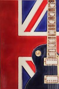 8x12 inch uk music ceramic wall art plaque art ceramic tile