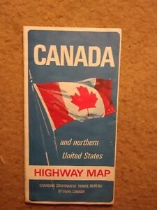 Canada Mileage Map Large highway map of Canada & northern United States w/mileage