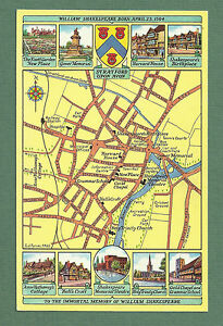 C1960S MAP PC STREET MAP OF STRATFORD UPON AVON eBay