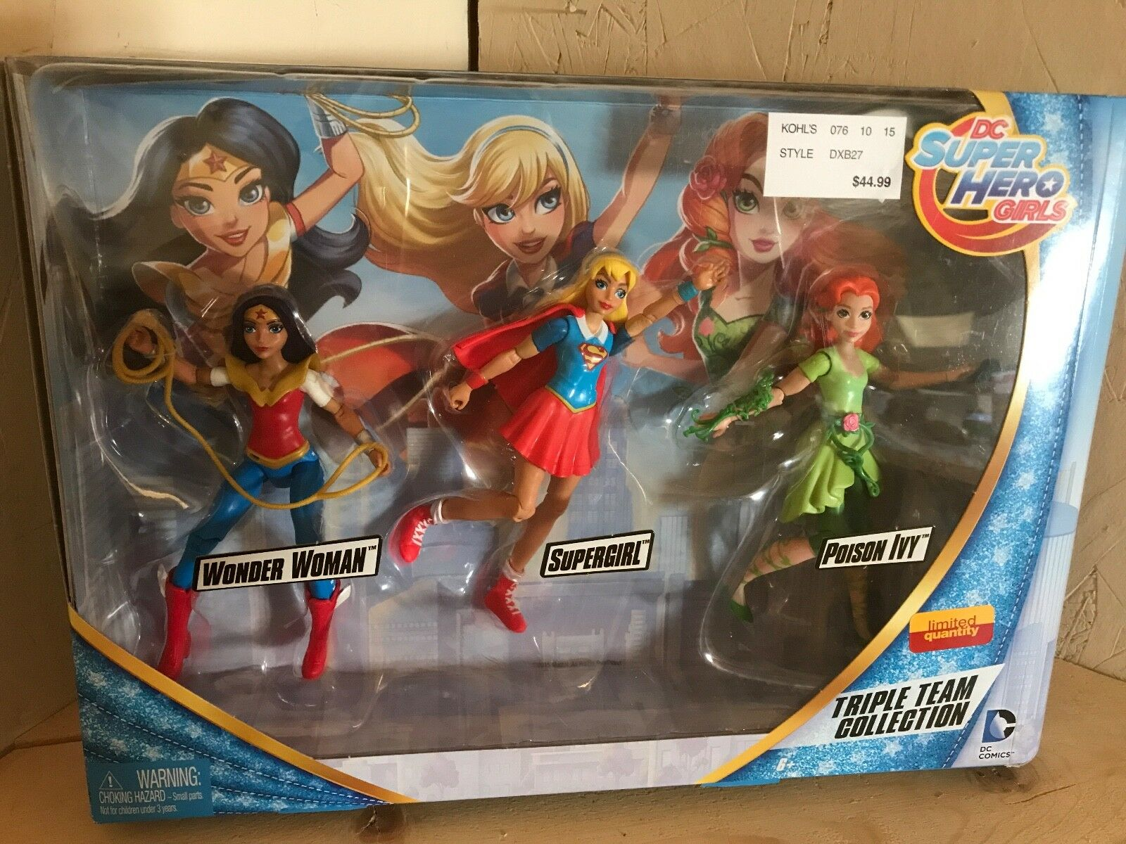 DC Super Hero Girls Triple Team Collection, Brand New, Free Shipping
