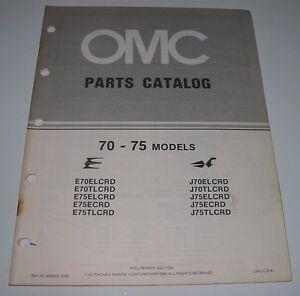 Bücher Sachbücher 75 Models Ersatzteilkatalog Et Katalog September 1983! Analytisch Parts Catalog Omc 70