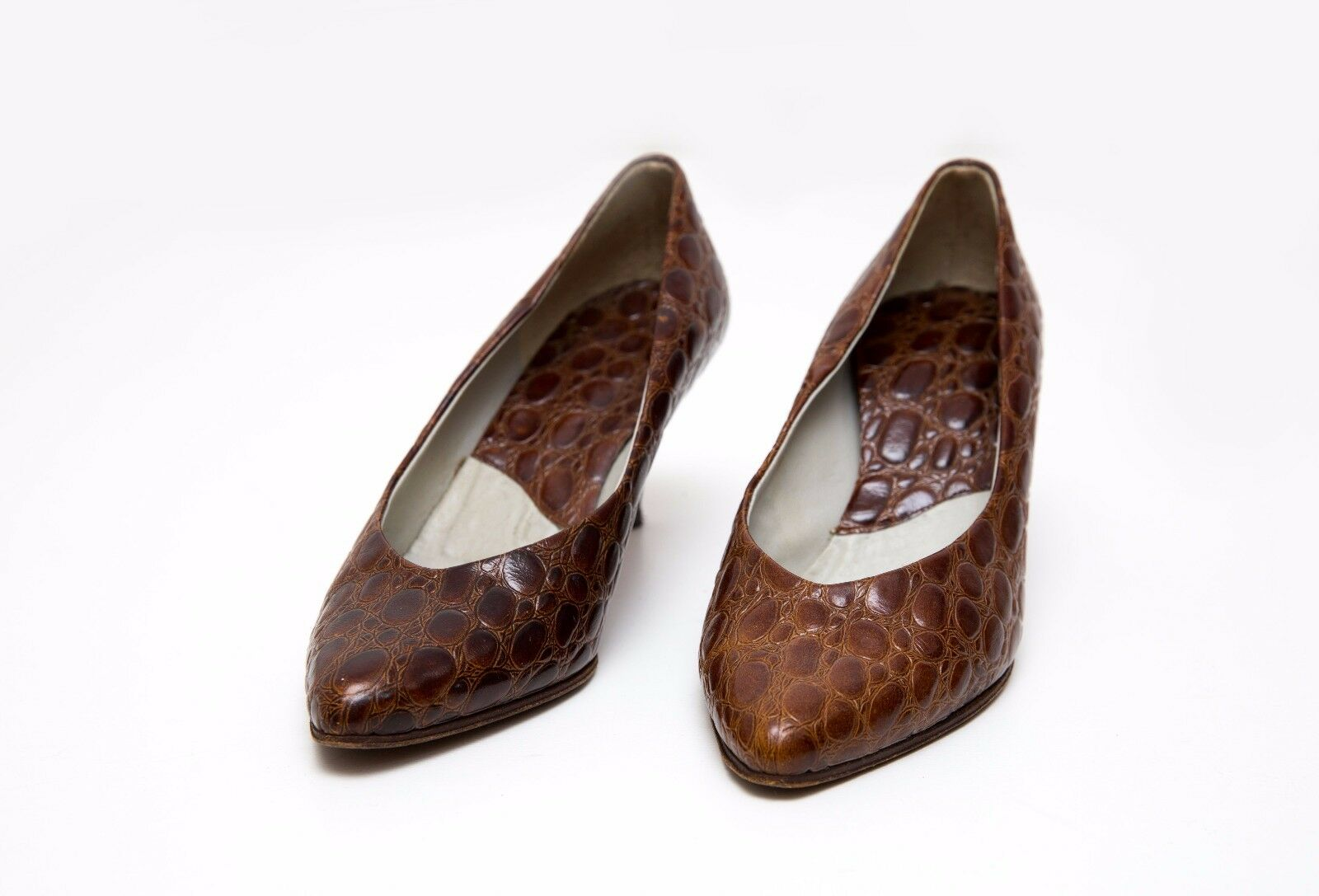 WOMENS LEATHER ROSS LOW HEEL SHOES 100 % GENUINE LEATHER WOMENS BROWN SIZE 37 EXC 0b37d0