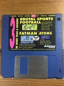 Amiga-Power-Magazine-cover-disk-31-Brutal-Sports-Football-Fatman-TESTED-WORKING