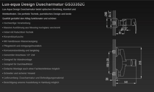 Duscharmatur Brausearmatur Badearmatur Mischbatterie Bad Dusche GS33352C