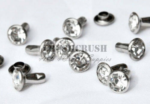 20Set 4.5 mm cristal clair synthétique Strass Rivets Diamant RV039 Free Ship