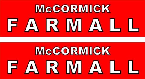 """2 McCormick Farmall  Tractor Decals  8/""""   FREE SHIPPING"""