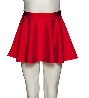 Girls Ladies Shiny Lycra Circular Dance Ballet Skirt By Katz Dancewear KDSK01