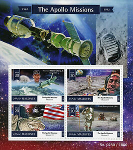 Maldives-2015-MNH-Apollo-Missions-4v-M-S-Space-Astronauts-Buzz-Aldrin-Jim-Lovell