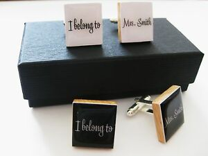 Personalised-wedding-cufflinks-handmade-in-white-or-black-gift-boxed-any-name