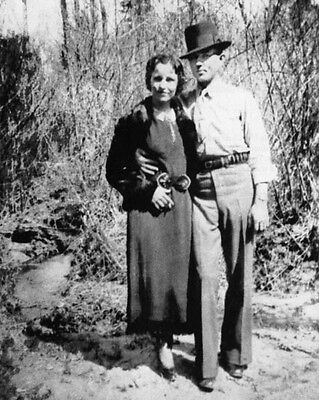 CLYDE BARROW 8X10 PHOTO BANK ROBBERS CRIME PICTURE BONNIE /& CLYDE