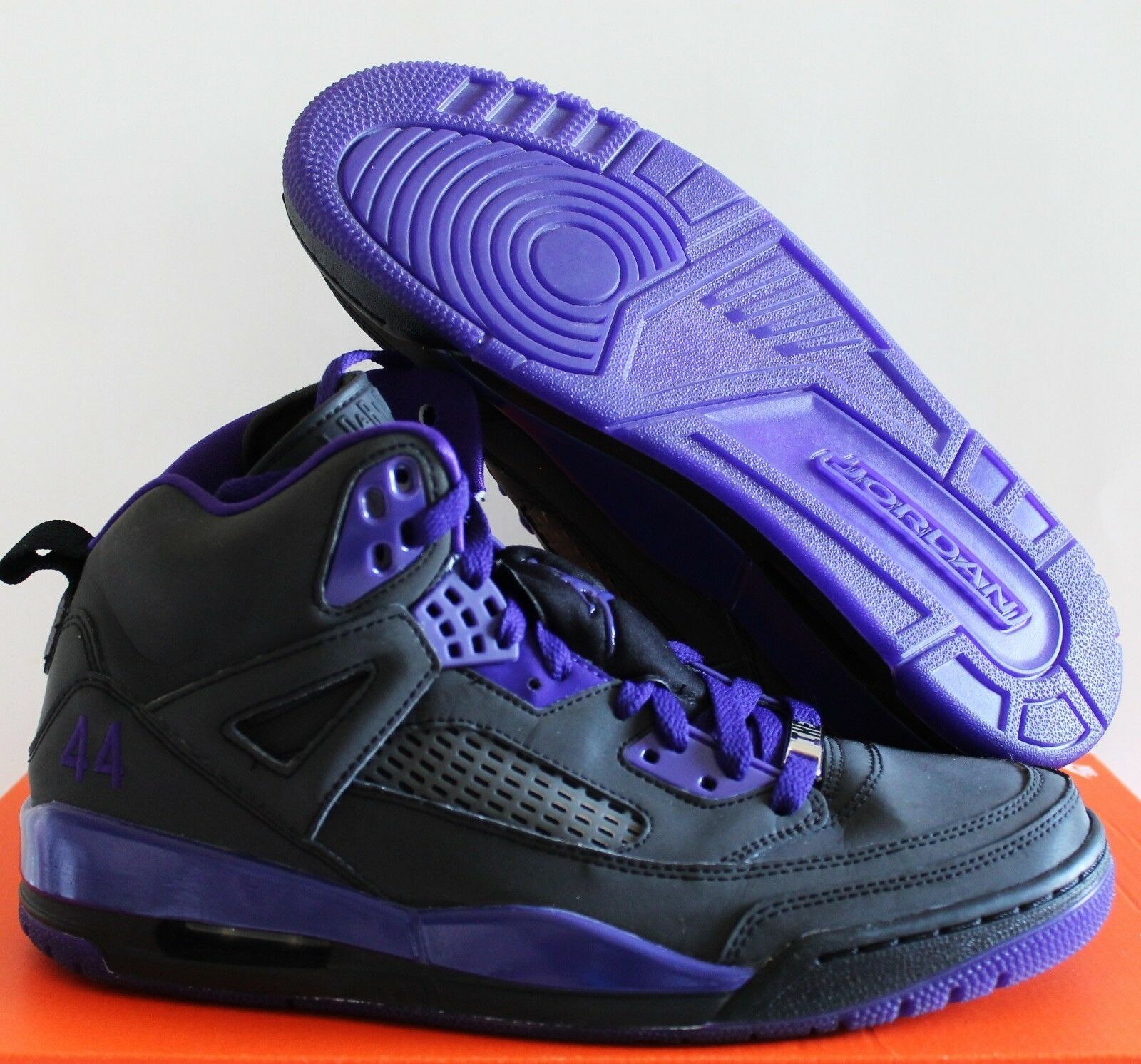 Wmns nike air jordan spizike id nero-purple sz 11 [605242-994]