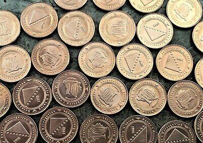 MARKA 1998-2017 UNC FENINGA BOSNIA AND HERZEGOVINA 7 COINS SET