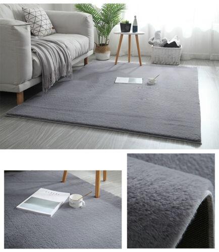 Soft Rabbit Wool Rug Faux Fur Shaggy Area Rugs Fluffy Floor Carpet Bedroom Mats