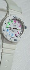 Ladies CASIO White Watch w/ Pastel Numbers