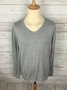 Men-039-s-Tommy-Hilfiger-Jumper-Large-Grey-Silk-Cotton-Great-Condition