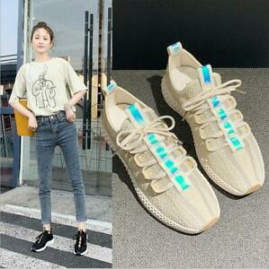 New-Women-039-s-knitting-Athletic-Running-Jogging-Shoes-Walking-Sneaker-Sports-Shoes