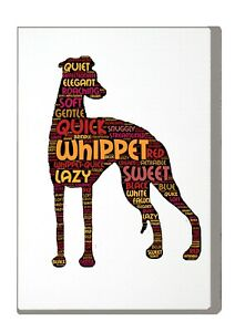 Whippet-Art-Print-Word-Art-A4-A3-Whippet-Mothers-Day-Gift-Personalised-Option