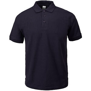 Unisex Heavy Duty Polo Shirt Work Wear Top Plain Style