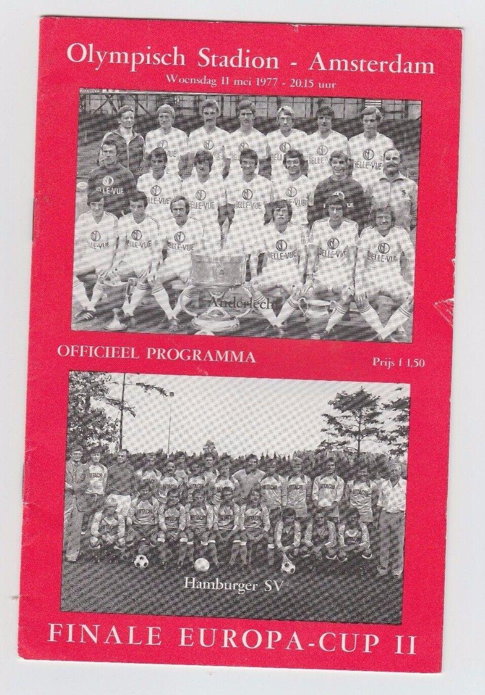 Orig.PRG   EC 2   1976/77  2  FINALE   RSC ANDERLECHT - HAMBURGER SV      RARITÄT 7367fb